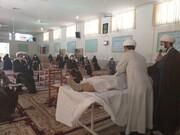 برگزاری کارگاه تغسیل اموات کرونایی ویژه طلاب آباده