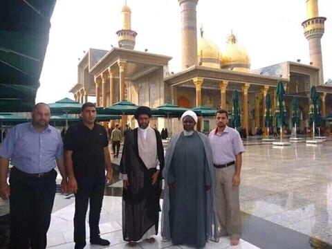 بازدید شیخ ابراهیم زکزاکی از حرمین امامین عسکریین