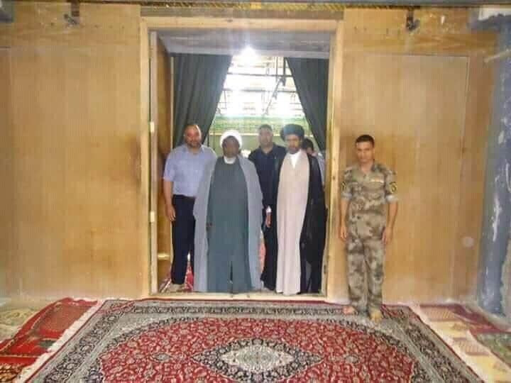 تصاویر آرشیوی حضور شیخ ابراهیم زکزاکی در حرمین امامین شریفین سامرا و کاظمین(ع) در سال ۲۰۱۲
