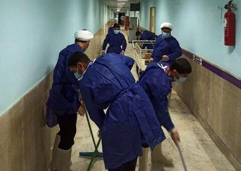 تصاویر/ کمک طلاب و روحانیان اسفراینی به کادر درمانی