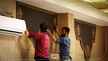 آمادهسازی کهف الشهدای مدرسه علمیه الغدیر اهواز
