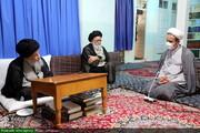 بالصور/ المتحدث باسم لجنة التعليم والبحوث لمجلس الشورى الإسلامي يلتقي بسماحة آية الله علوي الجرجاني بقم المقدسة