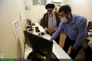 بالصور/ رئيس المجلس التنسيقي للتبليغ الديني في طهران يتفقد وكالة أنباء الحوزة بقم المقدسة