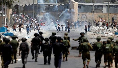 مواجهات بين الفلسطينيين وقوات الإحتلال في الضفة الغربية