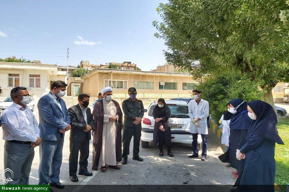 تصاویر/ قدردانی امام جمعه تکاب از زحمات کادر درمانی بیمارستان شهدا