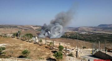 مزارع شبعا در جنوب لبنان توسط رژیم اسرائیل بمباران شد