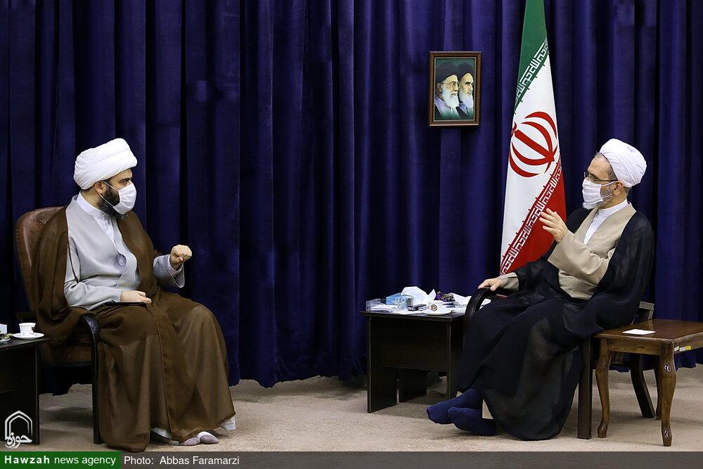 تصاویر/ دیدار رئیس سازمان تبلیغات اسلامی کشور با آیت الله اعرافی