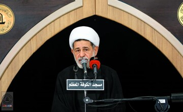 مراسم عزاداری شهادت امام باقر(ع) در مسجد کوفه برگزار شد +تصاویر