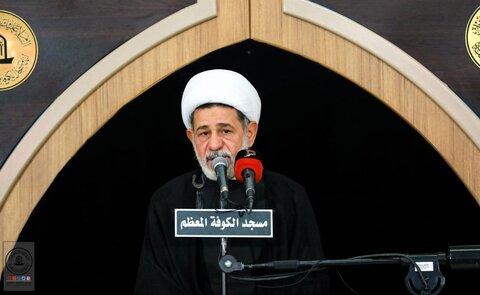 مراسم عزاداری شهادت امام باقر(ع) در مسجد کوفه برگزار شد
