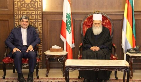 محمد جلال فیروزنیا سفیر ایران و شیخ نعیم حسن