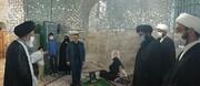 ادای احترام عضو فقهای شورای نگهبان بر مزار مرحوم آیت اللهی