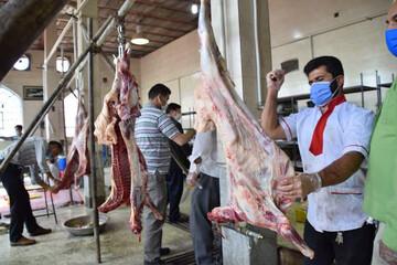 ذبح یک و نیم تن گوشت قربانی در شیراز