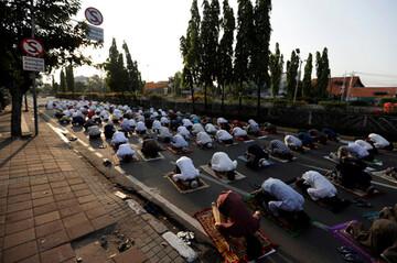 تصاویر/ برگزاری نماز عید قربان در سرتاسر جهان در سایه پروتکل های بهداشتی