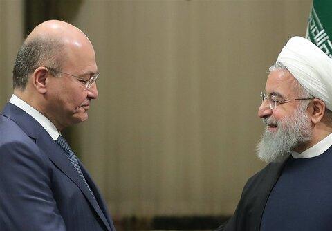 ایرانی صدر کا عراقی ہم منصب سے ٹیلیفونک رابطہ، دوطرفہ تعلقات پر تبادلہ خیال