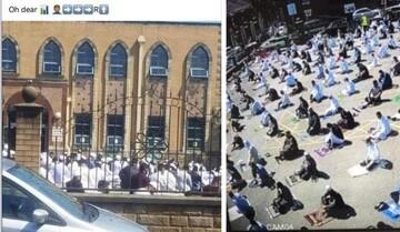 تصویری از مسجد بلکبرن در عید قربان که واقعیت را وارونه نشان میداد