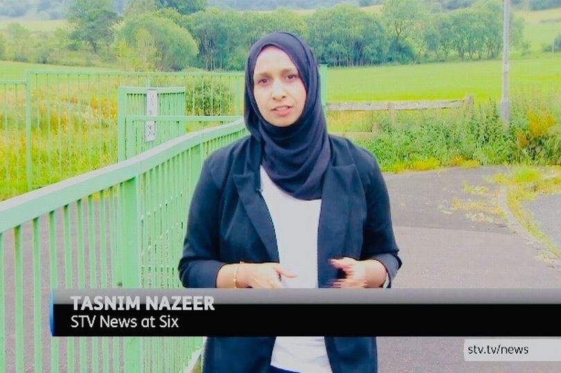 حضور گزارشگر محجبه در تلویزیون اسکاتلند + عکس
