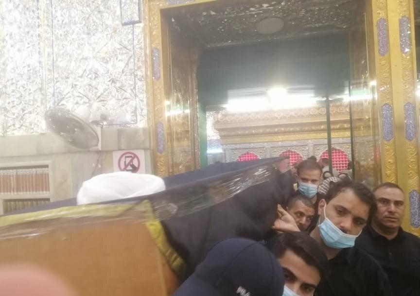 تصاویر/ تشییع پیکر آیت الله ناصری از علمای عراق در حرم حضرت امیرالمؤمنین(ع)
