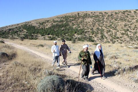 تصاویر| کوهپیمایی نماینده ولی فقیه در خراسان شمالی در ارتفاعات قرخود
