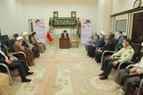 دیدار اعضای شورای هماهنگی تبلیغات اسلامی قم با آیت الله سعیدی