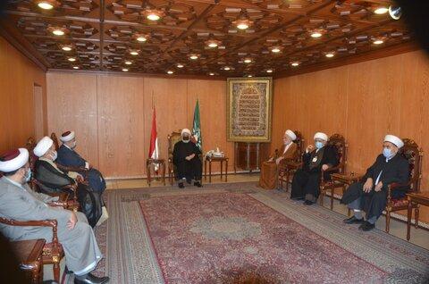 تجمع علمای مسلمان در دیدار با شیخ الخطیب
