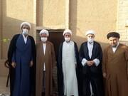 مدیران مدارس علمیه دامغان به دیدار آیت الله نعیم آبادی رفتند