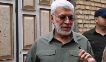فیلم | گفتگو با شهید ابومهدی المهندس در مناطق سیلزده خوزستان