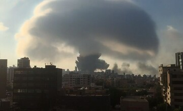 فیلم | لحظه وقوع انفجار مهیب در بندر بیروت لبنان