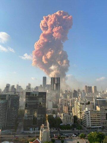 انفجار بزرگی بیروت را لرزاند