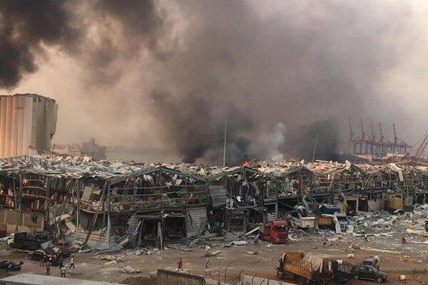 فیلم جدید از لحظه انفجار بسیار مهیب در بیروت لبنان