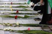 غبارروبی مزار شهدای رسانه آذربایجانشرقی در آستانه روز خبرنگار