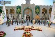 رفع راية (من كنت مولاه فهذا علي مولاه ) احتفاء بذكرى عيد الولاية عيد الغدير الأغر +الصور