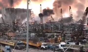فیلمی که تخریب کامل بندر بیروت را نشان میدهد