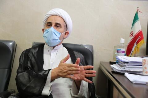 تصاویر/مصاحبه با حجت الاسلام والمسلمین رستم نژاد معاونت آموزش حوزه های علمیه
