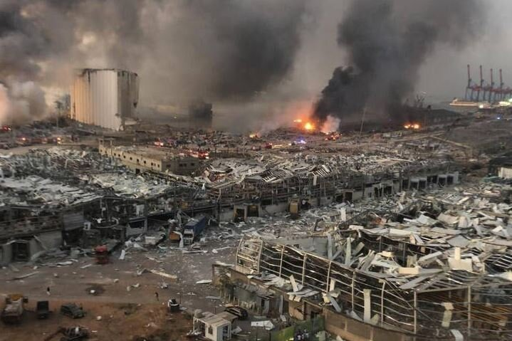 فیلم دیگری از لحظه انفجار بندر بیروت