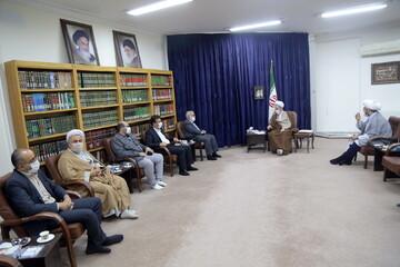 تصاویر/ دیدار رئیس کمیته امداد امام خمینی (ره) با آیت الله اعرافی