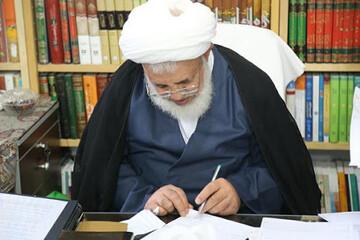 تبریک آیت الله ناصری یزدی به خبرنگاران