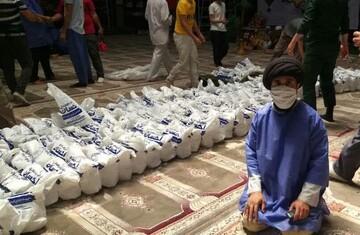 توزیع ۱۴۰۰۰ پرس غذا بین نیازمندان در مهرگان قزوین