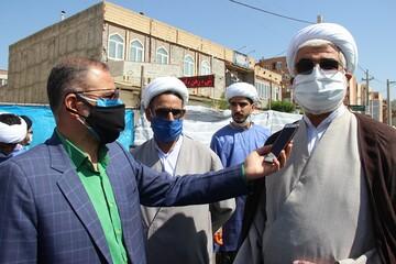 خداقوتمدیر حوزه علمیه قزوین به دست اندر کارانقرارگاه جهادی