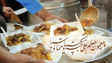 فیلم | توزیع احسان غدیر در روستای تاریخی ترکان در استان یزد