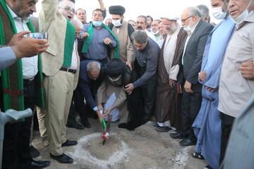 تصاویر / آئین کلنگ زنی مجتمع فرهنگی خادم الشهداء قم در روز غدیر