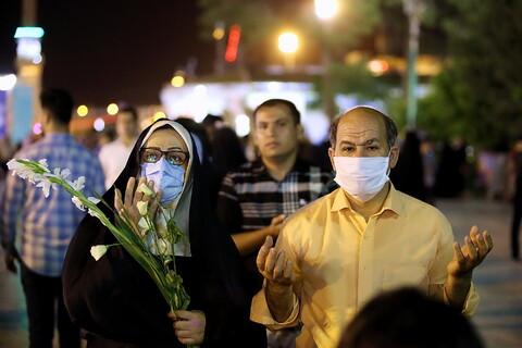 تصاویر/ حال و هوای حرم حضرت معصومه(س) در شب عید غدیر