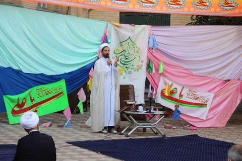 جشن عید غدیر و مراسم عمامه گذاری در مدرسه علمیه آیت الله آخوند همدان