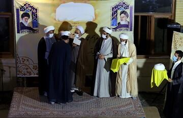 مراسم عمامه گذاری طلاب مدرسه علمیّه آیت الله بهجت در روز عید غدیر