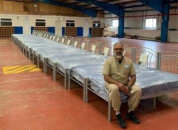 مسجدی در انگلیس ۲۰ تخت ویژه بیماران کرونایی اهدا کرد