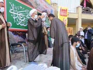 تصاویر / عمامه گذاری طلاب حوزه علمیه بناب در روز عید غدیر
