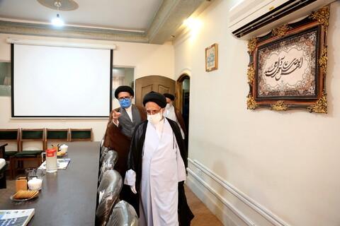 ممثل الولي الفقيه في حرس الثورة بقم المقدسة يتفقد وكالة الحوزة