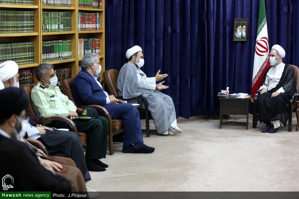 تصاویر/ دیدار نماینده ولی فقیه و استاندار سیستان و بلوچستان با آیت الله اعرافی