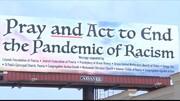نصب بیلبورد «با ویروس نژادپرستی بجنگیم» از طرف مسلمانان ایلینوی آمریکا