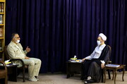 تصاویر/ دیدار علیرضا زاکانی، نماینده مردم قم در مجلس شورای اسلامی با آیت الله اعرافی