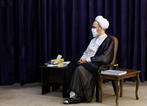 دیدار نماینده مردم قم در مجلس شورای اسلامی با آیت الله اعرافی